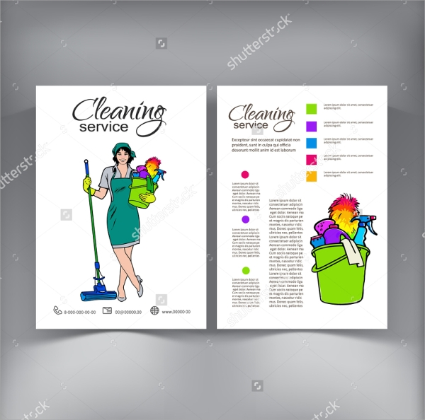 19 cool cleaning brochure templates sample templates for Cleaning service brochure templates