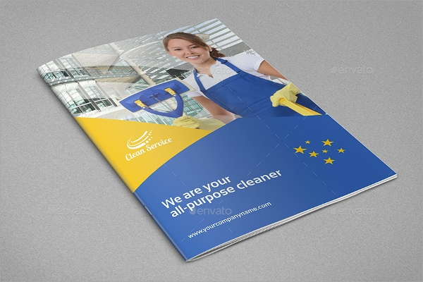colorful cleaning brochure
