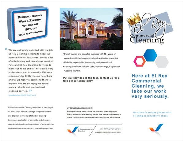 commercial cleaning brochure templates 19 cool cleaning brochure templates sample templates