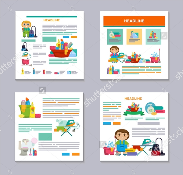 attractive cleaning brochure