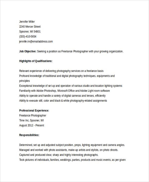 Freelance blogger resume sample