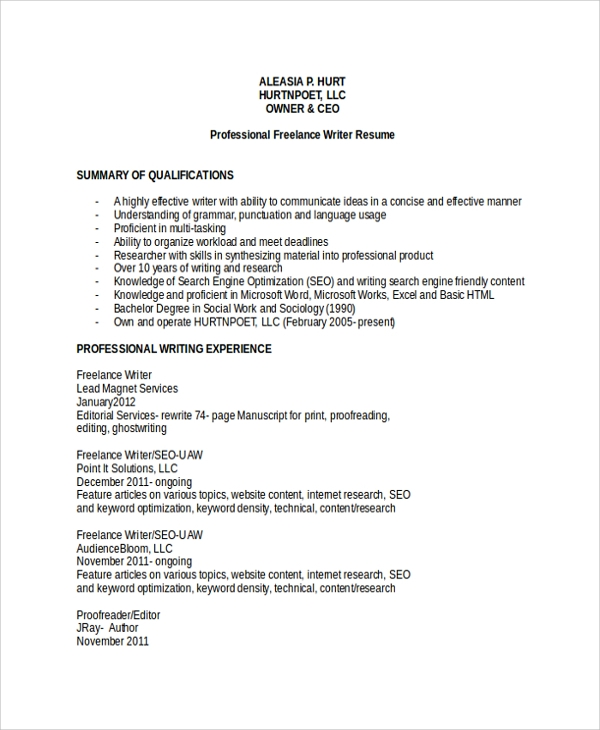 Multimedia Developer Resume