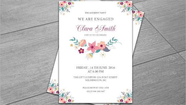 25 Engagement Invitations Psd Ai Word