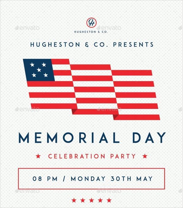 modern memorial day flyer