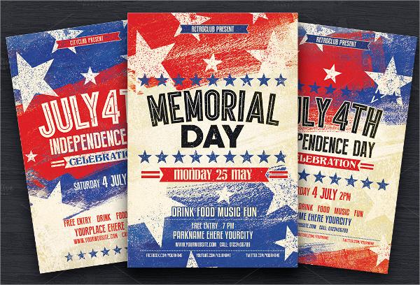 creative memorial day flyer