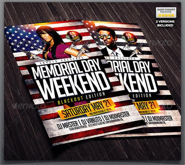 fantastic memorial day flyer
