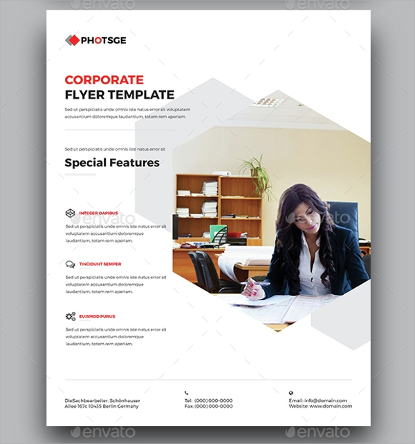 corporate campaign flyer template psd