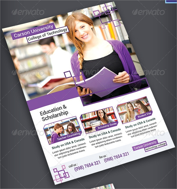 education campaign flyer template