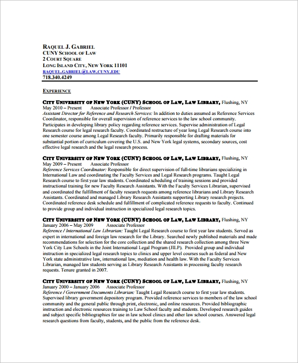 Sample Librarian Resume 9 Free Documents Download In