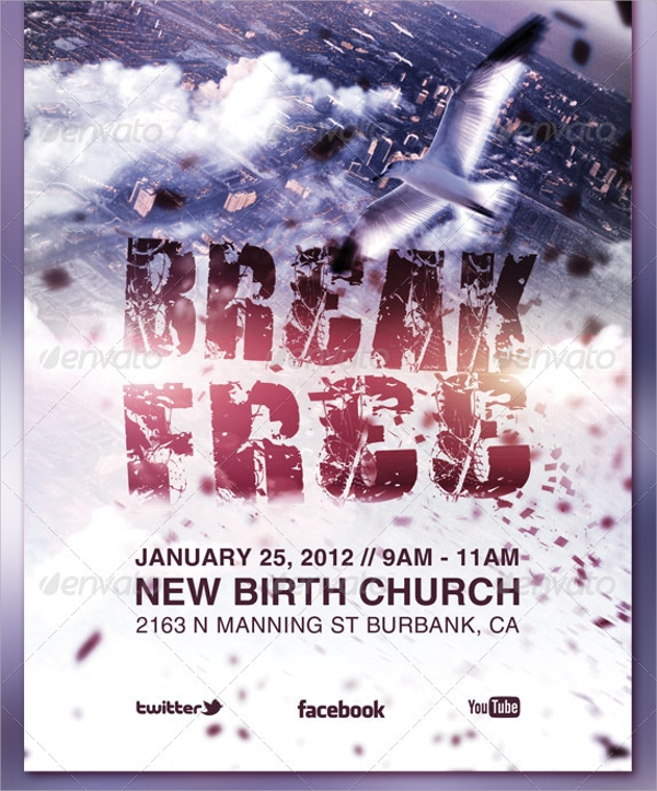 20 church flyers free psd ai vector eps format download for Free church flyer psd