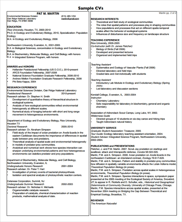 Sample College Graduate Resume - 8+ Free Documents Download in Word ...