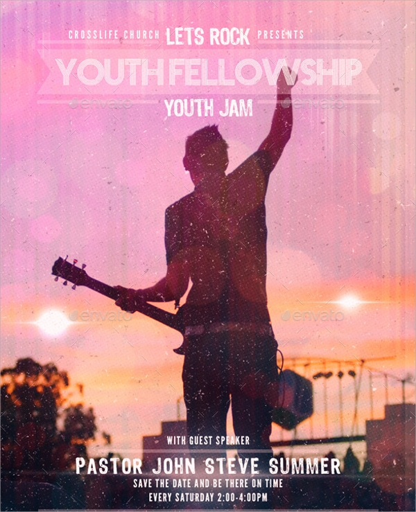 youth church flyer template