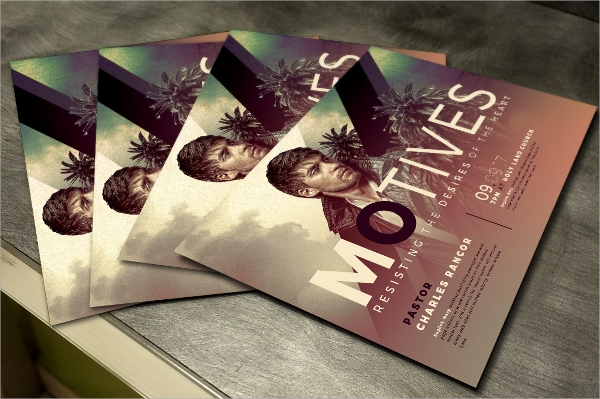motives church flyer template