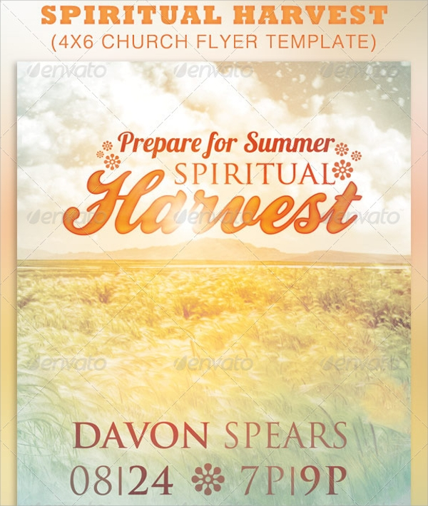 spiritual harvest church flyer template