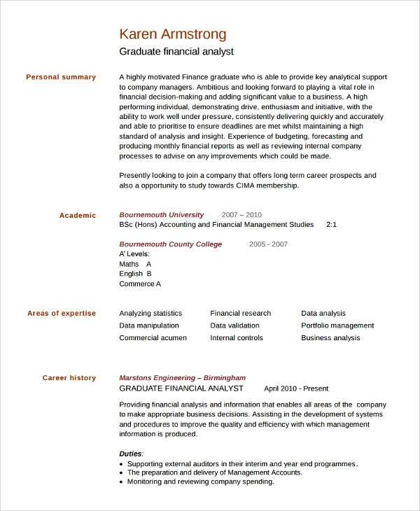 sample college graduate resume 8 free documents
