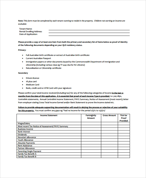 Rental Assistance Form. Printable Sample Rental Lease Agreement