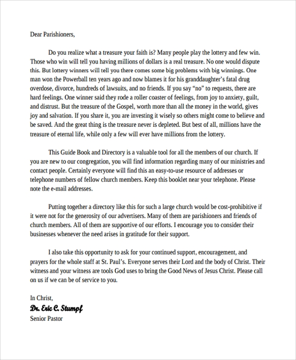 Sample Encouragement Letter Template 9 Free Documents in PDF Word – Encouragement Letter Template