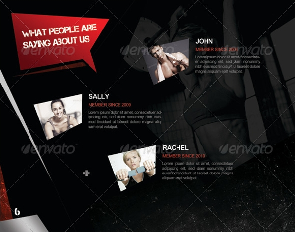 perfect gym brochure template