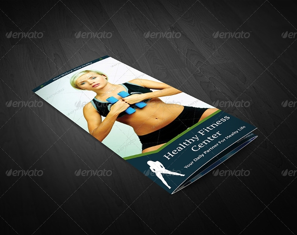 healthy fitness trifold brochures