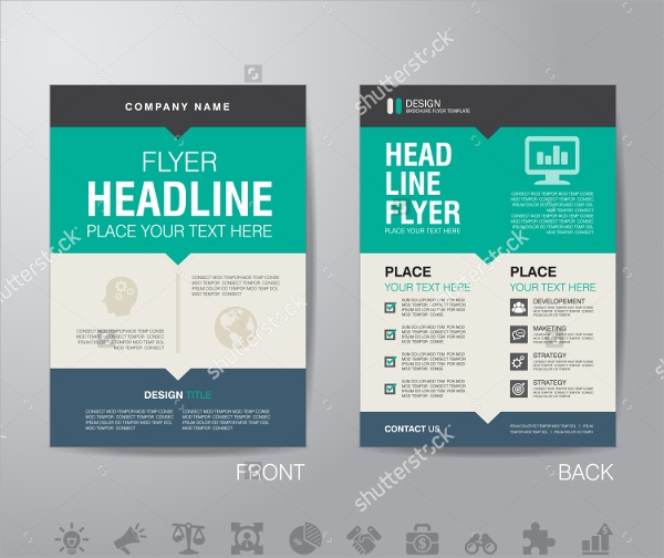 vector advertising brochure template