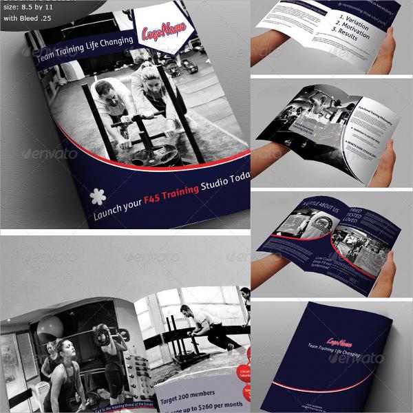 fitness training brochure