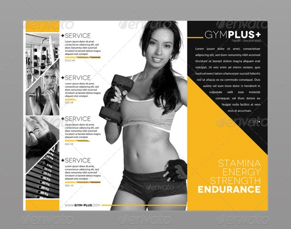 awesome gym brochure