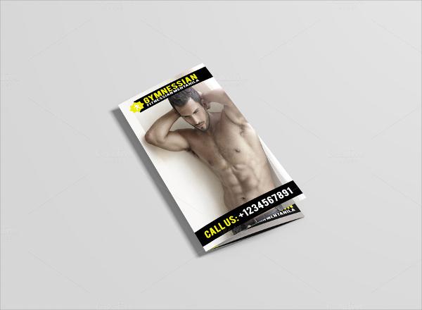 tri fold gym brochure template
