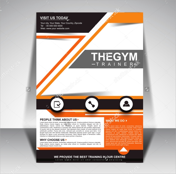 colorful gym brochure template