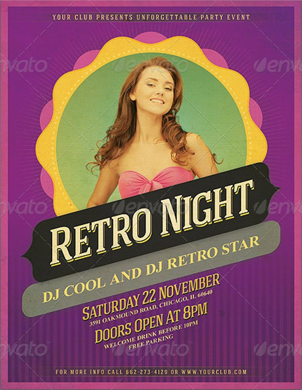 21 Retro Flyer Templates PSD In Design Format Download – Birthday Flyer Templates Free