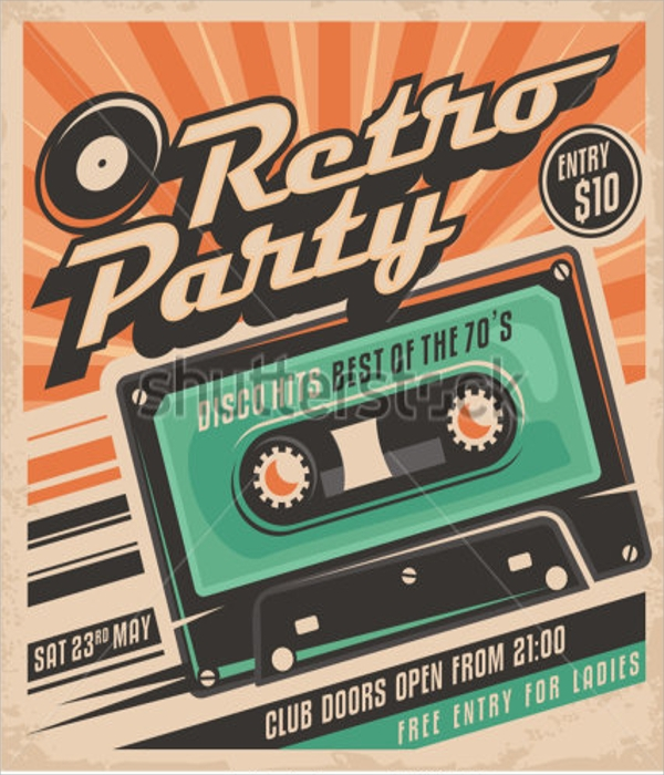 Retro Flyer Templates  Psd In Design Format Download