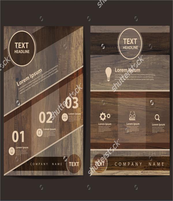 retro restaurant flyer design template