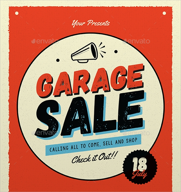yard sale flyer template
