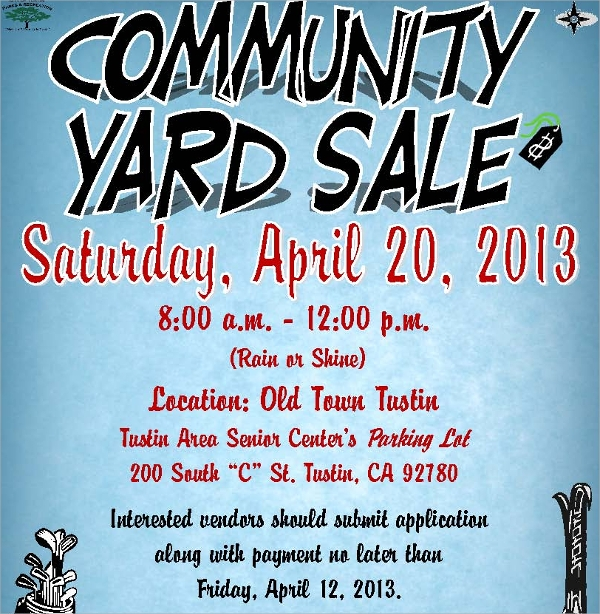 Yard Sale Flyer Templates  Psd Eps Format Download