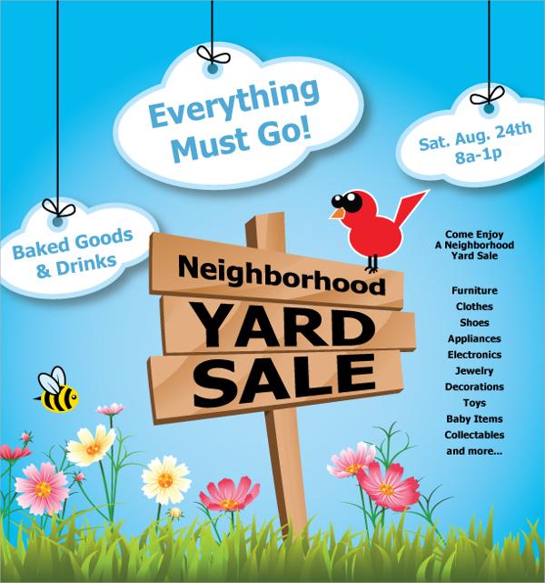 beautyiful yard sale flyer
