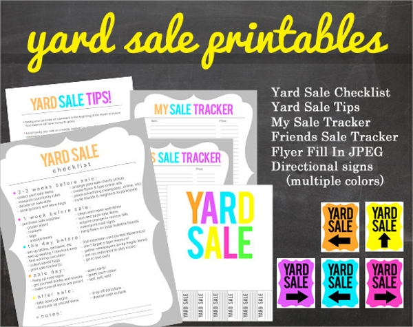 27 yard sale flyer templates sample templates