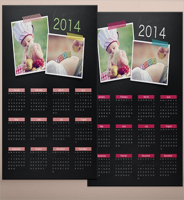 Calendar Flyer Templates  Psd In Design Vector Eps Format