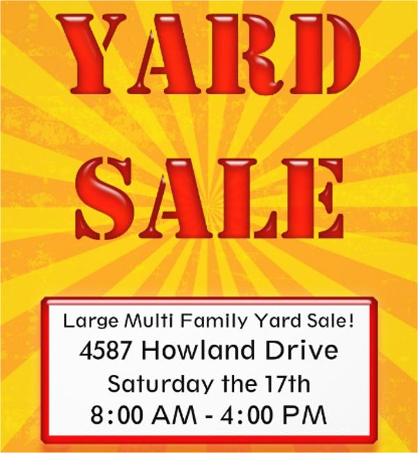 amazing yard sale flyer