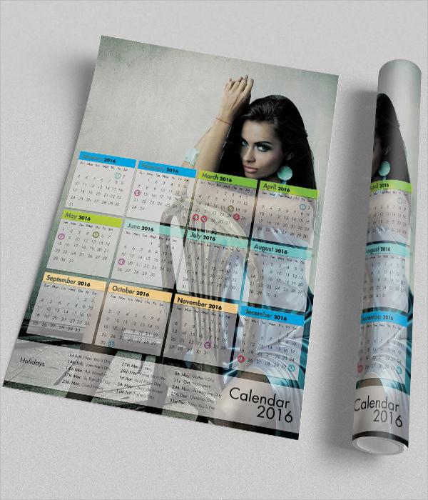 Creative Calendar Template : Calendar flyer templates sample