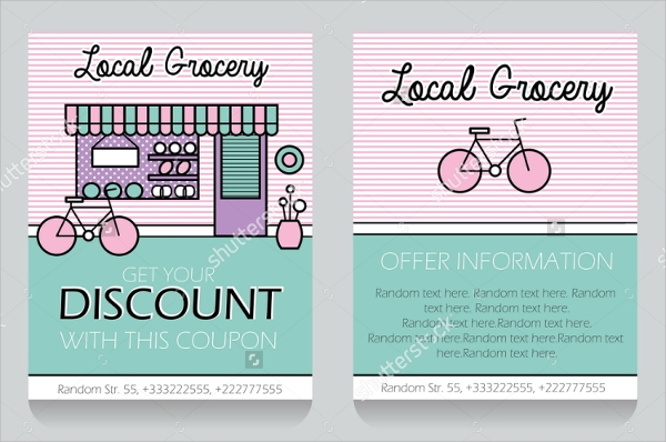 grocery discount flyer template