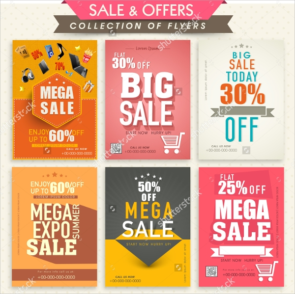 mega discount flyer template