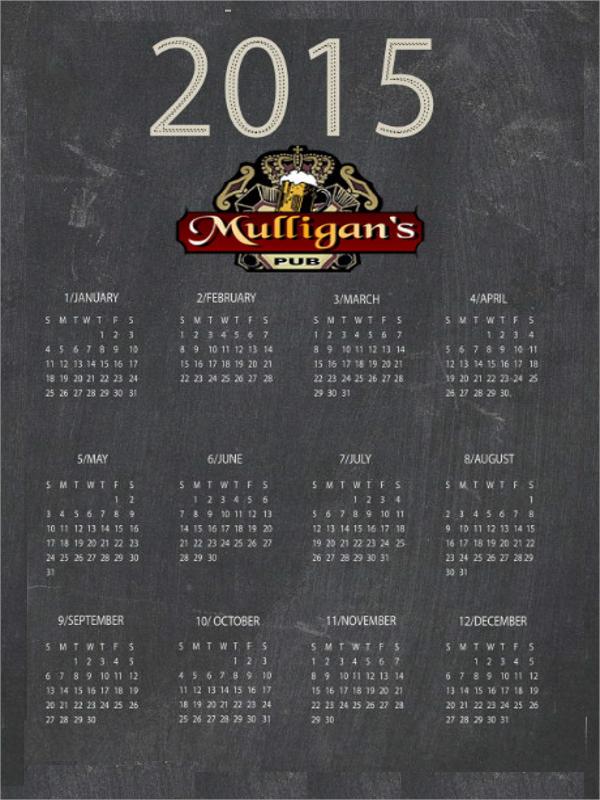 calendar flyer design template