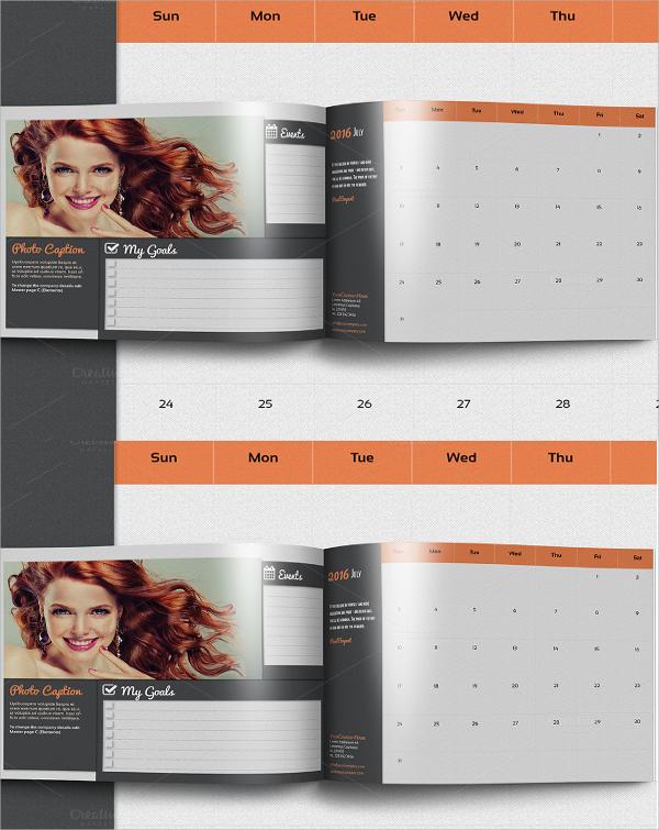 calendar organizer flyer template