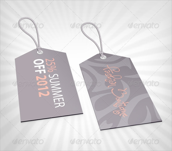 Sample Clothing Tag Template - 6+ Documents Download In Psd, Pdf