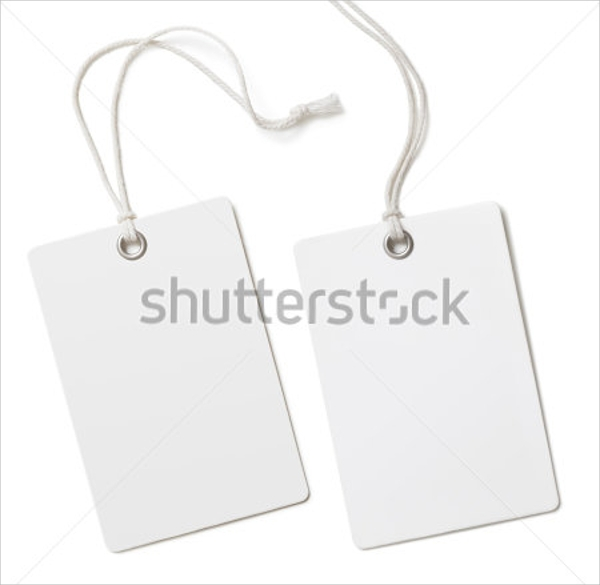 blank clothing tag template
