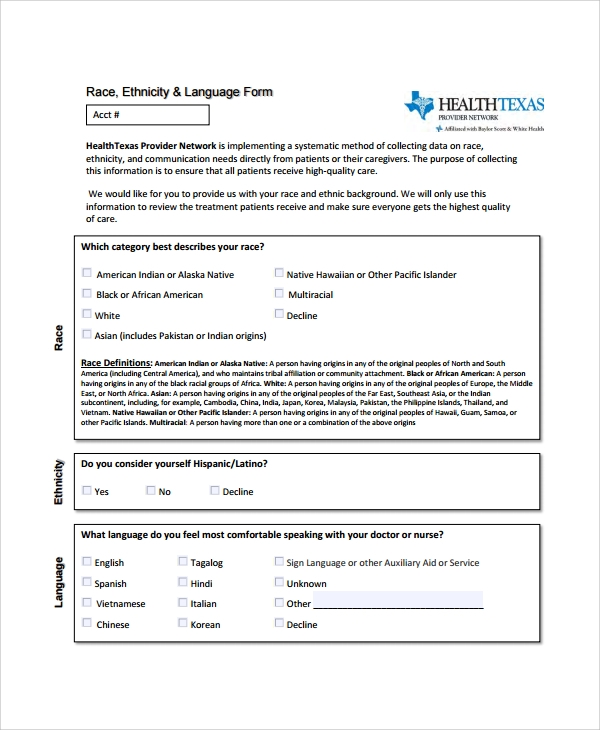 Sample Patient Registration Form   Free Documents Download In