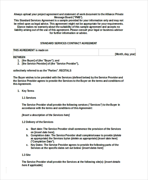 two party service contract template1