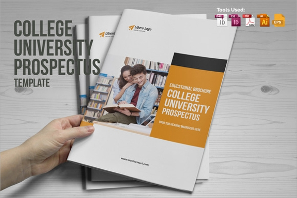 12 university brochure templates psd eps format download With college prospectus design template