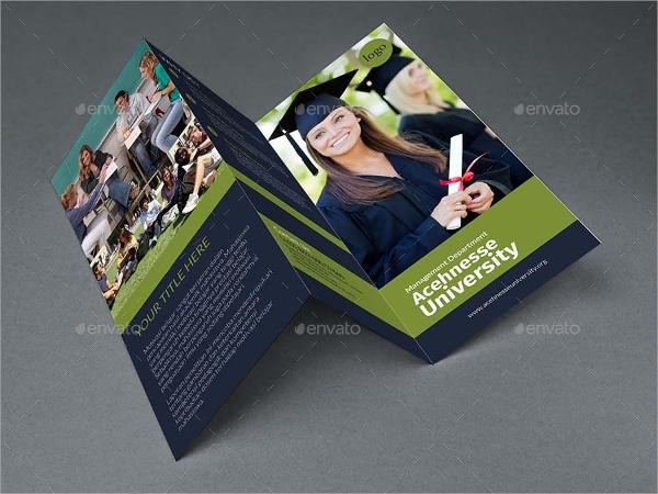 tri fold university brochure template