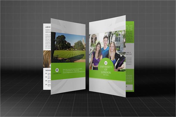 bi fold university brochure template