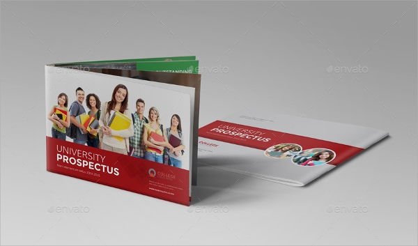 indesign college university brochure